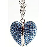 High Quality 8gb Heart Crystal Jewelry USB Flash Memory Drive Necklace, Best Gadgets