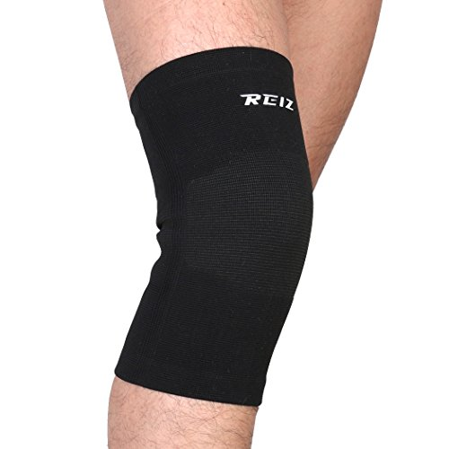 REIZ Elastic Knee Brace Sleeve Support RZ703 Black - S