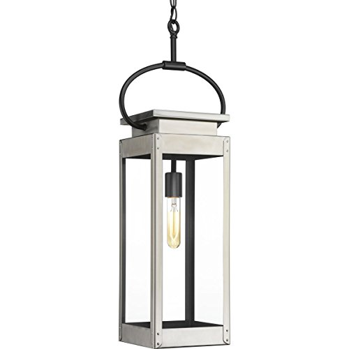 Progress Lighting P550018-135 Union Square Stainless Steel One-Light Hanging Lantern,
