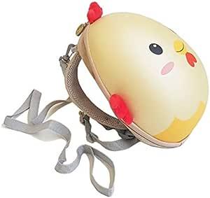 Mochila con correa y arnés de seguridad para no perder al Niño, funciona como Lonchera para llevar el Almuerzo y juguetes (Pollo marfil)