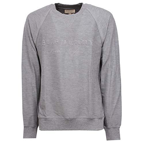 Uomo 8864x Felpa Sweatshirt Grey Grigio Cotton Burberry Man BqOfnf