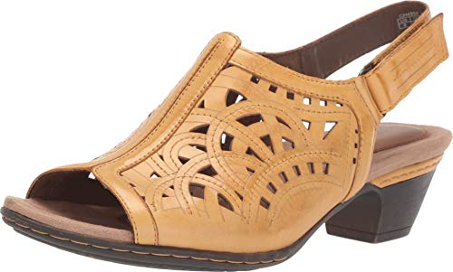 - Cobb Hill Women's Abbott HI Vamp Sling Sandal, Yellow Leather, 060 W US