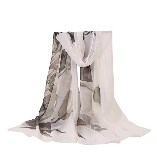 Scarf Women Silk Scarf Scarf Women Floral Flower Printing Long Soft Wrap Shawl Veil S10 Se27,D,One Size