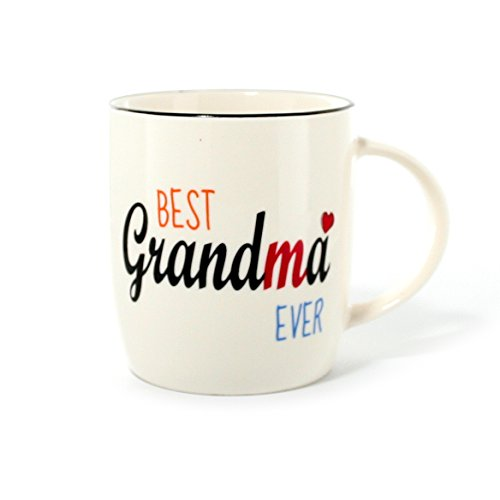 Gifffted Best Grandma Ever Coffee Mug, Gift For Grandmother Birthday, Anniversary and Mothers Day Unique Gifts, Ceramic, 13 oz Cup