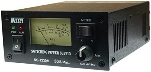 Nissei NS-1230M 30 AMP Switching Power Supply with Meter, 4-16 Volts Adjustable