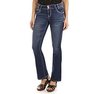 WallFlower Women's Instastretch Luscious Curvy Bootcut Jeans 16