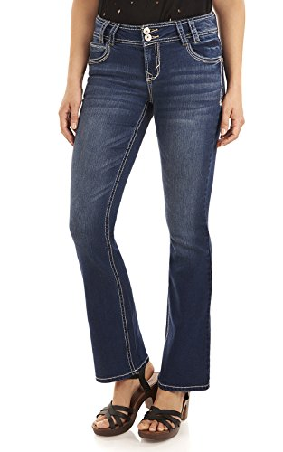 WallFlower Junior's Instastretch Luscious Curvy Bootcut Jeans, Chrystie, 7 -