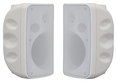 PU Health Pure Acoustics Portable Speakers with Multidirectional Brackets, White