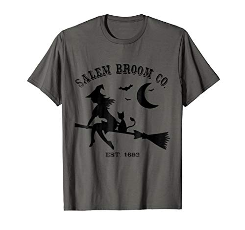 Salem Broom Co est 1692 Sexy Flying Witch and Cat Gift ()