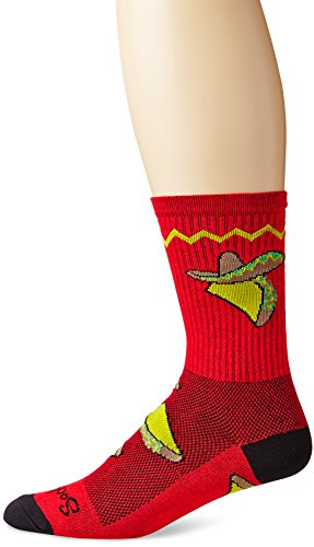 SockGuy Men's Taco Tuesday Crew Sock, Red, Sock Size:10-13/Shoe Size: 6-12,L/XL (Best Bike For Big Guys)