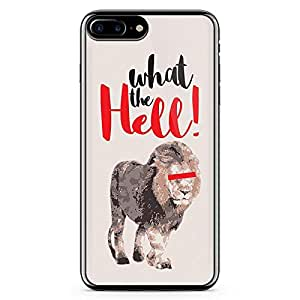 iPhone 7 Plus Transparent Edge Case Lion What The Hell