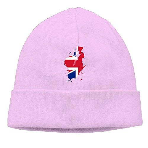 boy Unisex England Flag Ink Classic Fashion Daily Beanie Hat Skull Cap Go Ahead