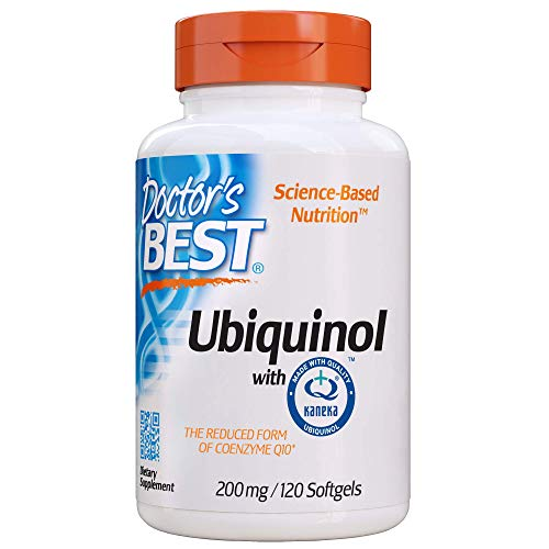 Doctor's Best Ubiquinol with Kaneka QH, Healthy Heart, Enhances Cellular Energy, Antioxidant, Non-GMO, Gluten Free, Soy Free, 200 mg, 120 Softgels (DRB-00275)