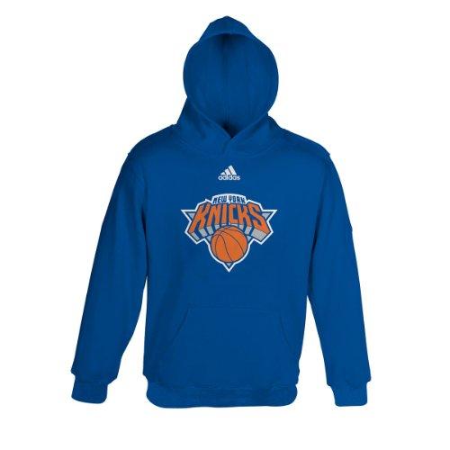 New York Knicks adidas Youth Primary Logo Hooded Sweatshirt Adidas New York Knicks Primary
