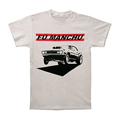 Fu Manchu Men's Muscle Slim Fit T-shirt Silver