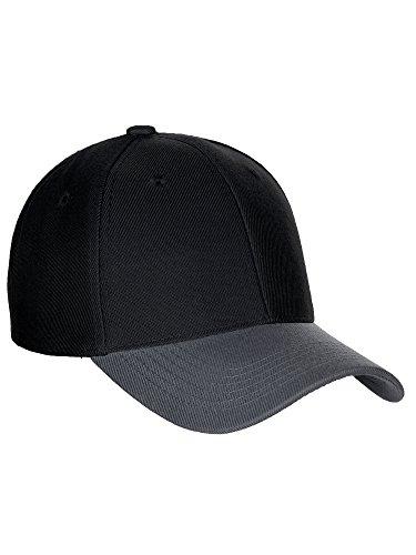 Diversity & Inclusion D&I Basic Baseball Cap Velcro Closure Curved Visor Hat-2 Tone Black/Dark Grey