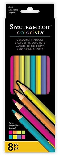 Colorista by Spectrum Noir 8 Piece Pencils Set Crafter' s Companion SPECN-C-PSET6