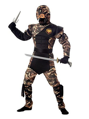 Special Ops Ninja Child Costume Size Large (10-12) (Camouflage Special Ops Ninja Child Costume)