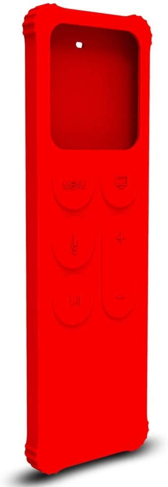 AWINNER Protective Case Compatible for Apple TV 4K 5th / 4th Gen Remote - Lightweight [Anti Slip] Shock Proof Silicone Cover for Apple TV Siri Remote Controller (Red)