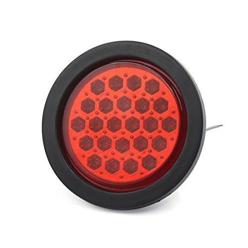 eDealMax 24V DC de remorques de camions arrondissent Rouge 24 LED d'arrt de freinage Feu arrire