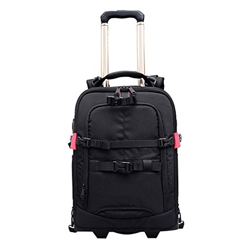 Drawbar Type - Trolley Camera Bag Shoulder Multi-Function Professional Large-Capacity SLR Camera Backpack Lever-Type Chassis
