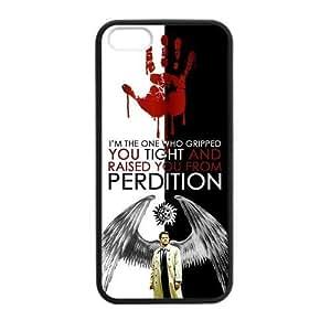 Popular TV Series Supernatural Unique Castiel Protective Cover Case for iPhone 6 4.7 (Laser Technology) Kimberly Kurzendoerfer
