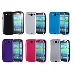TPU Case With Built In Screen Protector For Samsung Galaxy S3 i9300 --- Color:Black