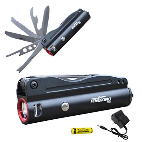 Tactical Flashlight Multi Tool Survival Rechargeable