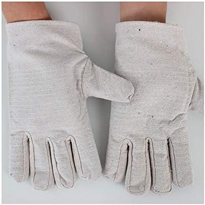 労働保護作業用手袋 作業手袋アンチカッティング工業用保護手袋、10ペア (Color : White, Size : L-Twenty pairs)