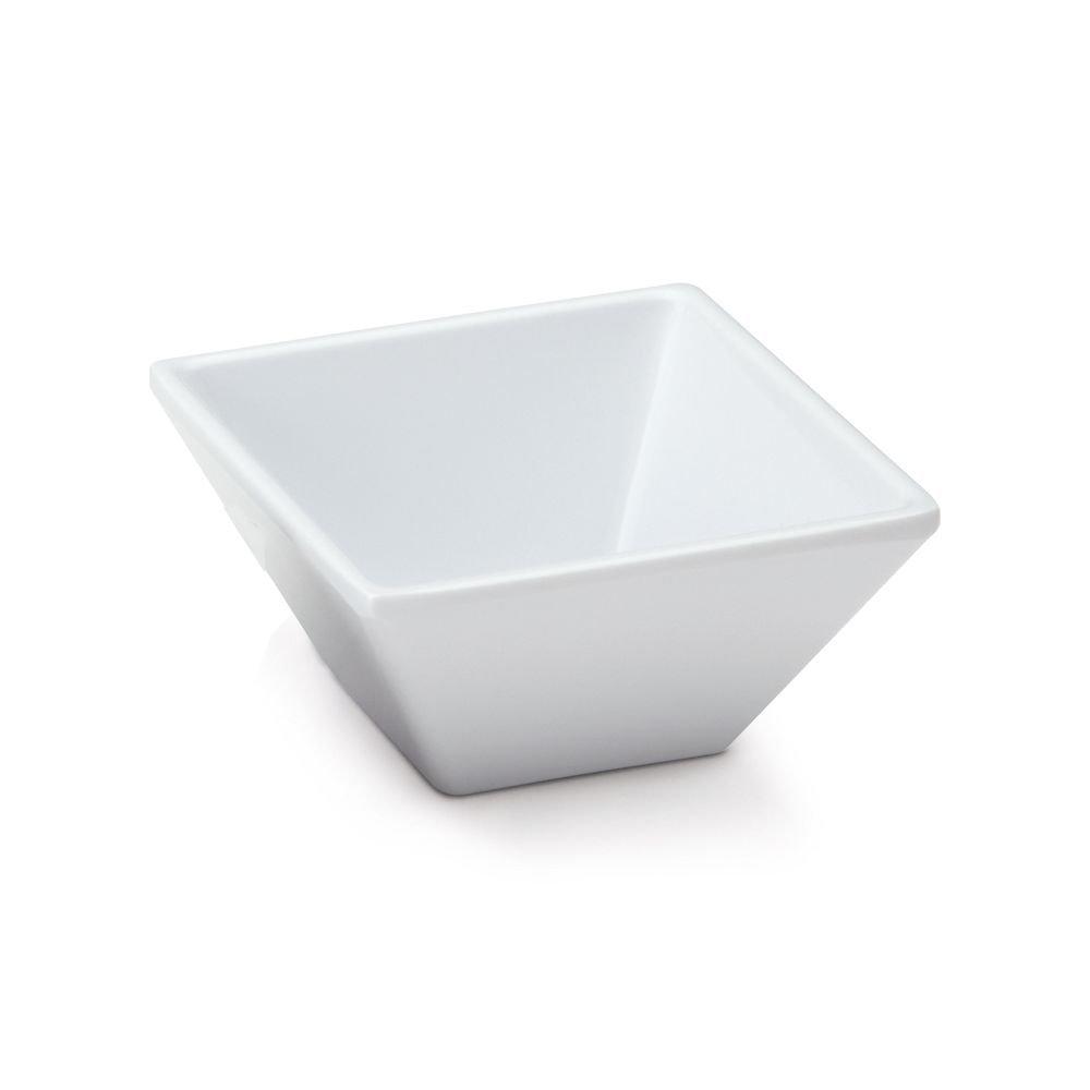 G.E.T. ML-257-W Siciliano White 3 Ounce Square Petite Bowl - 48 / CS
