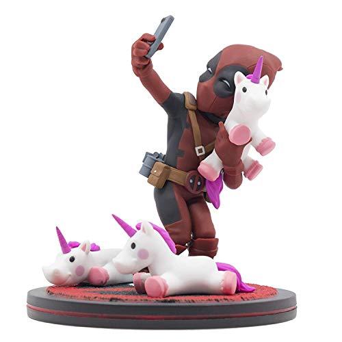 Quantum Mechanix Deadpool Unicorn Selfie Q-Fig Max Toons - Traditional Fig