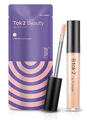 [Bdot] Tok 2 Beauty Lip Plumper with Natural Oil (Nude) - Instant Boost, Hydration, Shine Glossy and Volumizing Within Seconds