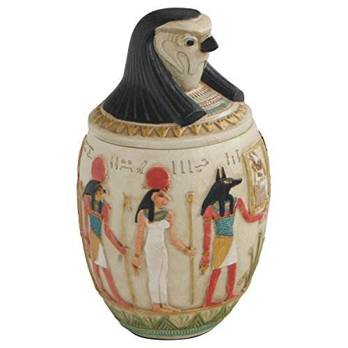 Egyptian Canopic Jars (Canopic Jar of Quebehsenuef, Egyptian Statue, 8.5 Inches)