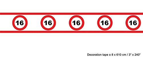 Banda Tráfico cartel 16 cumpleaños 8 cm de altura 610 cm de ...