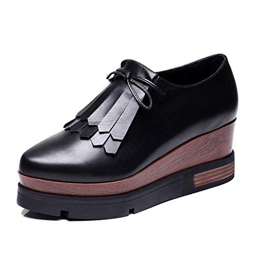 Caída plataforma zapatos/Borlas acentuado tacones/Zapatos de cuñas A
