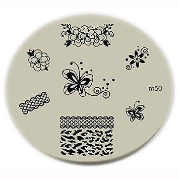 Amazon Konad Stamping Nail Art Image Plate M50 By Konad Beauty