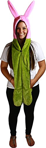 Bob's Burgers Louise Bunny Ears Plush Snood Hat