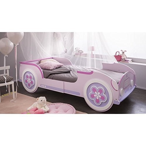 Demeyere 206470 Auto Cama Lady Car 90 x 190/200 cm, sin somier, 216 x 60,5 x 99 cm, Color Rosa: Amazon.es: Hogar