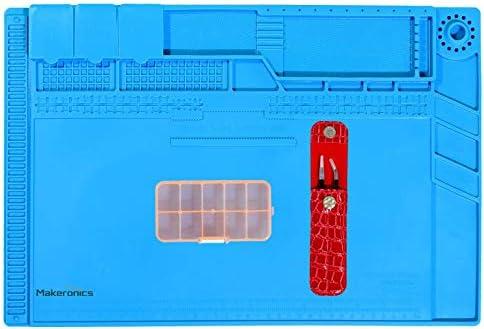 Makeronics S-160C Soldering Mat Insulation Silicone Magnetic Repair Work Mat Heat-Resistant Soldering Station Mat