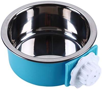 LJSLYJ ペットぶら下げ給餌ボウル固定ステンレス鋼フィーダー用ケージ取り外し可能な食品水ボウルペット犬猫フィーダー供給