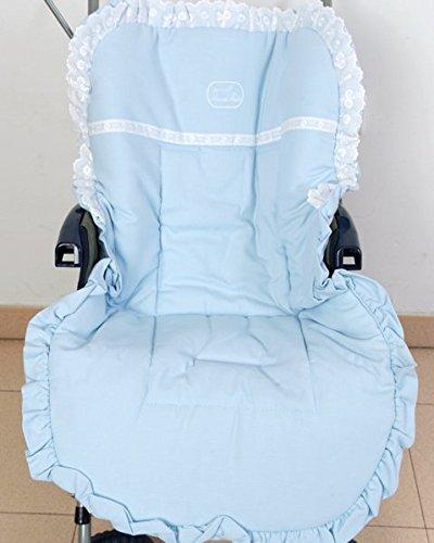 Colchoneta para silla de paseo universal puntilla celeste ...