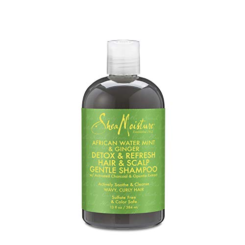 Shea Moisture African Water Mint & Ginger Detox Hair & Scalp Gentle Shampoo for Unisex, 13 Ounce (Best Hair Detox Shampoo Reviews)