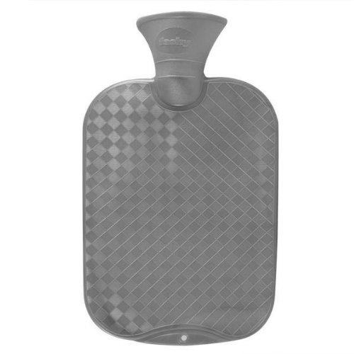 Clásico Cruz Hatched agua Bottle - botella de agua caliente 2l antracita por Fashy