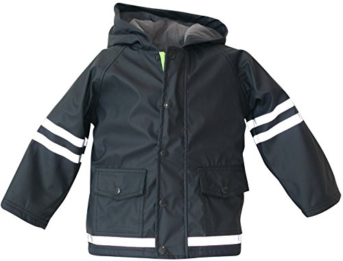 I Rock the Block Little Boys' Rain Jacket Raincoat - 2t Navy
