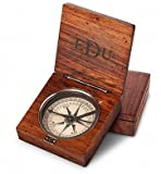 GiftTree Lewis & Clark Compass | Personalized Engraved Compass with three letter Monogram