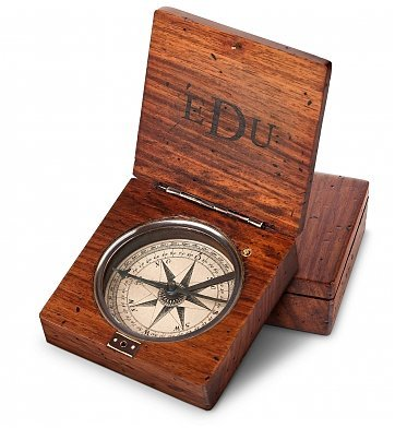 GiftTree Lewis & Clark Compass | Personalized Engraved Compass with three letter Monogram by GiftTree