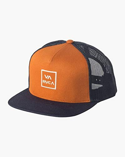 (RVCA Men's VA All The Way MESH Back Trucker HAT, Mustard Gold ONE Size)