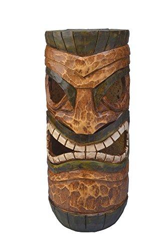 Solar Powered Tiki Head Monster Tiki Huts