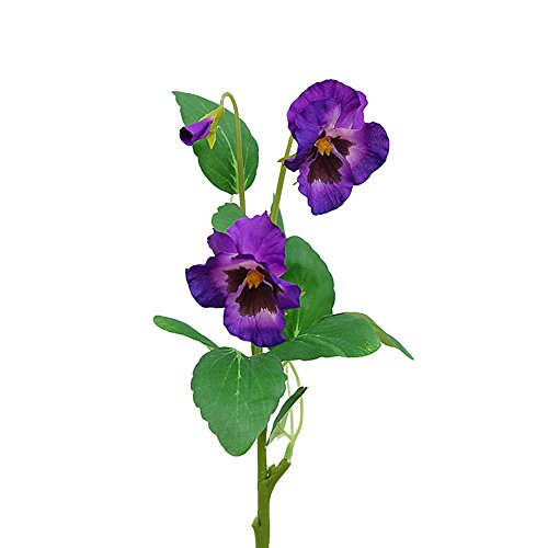 JAROWN 5Pcs Artificial Flowers Pansy Moth Phalaenopsis Orchid For Home Office Wedding Decoration Arrangement Purple
