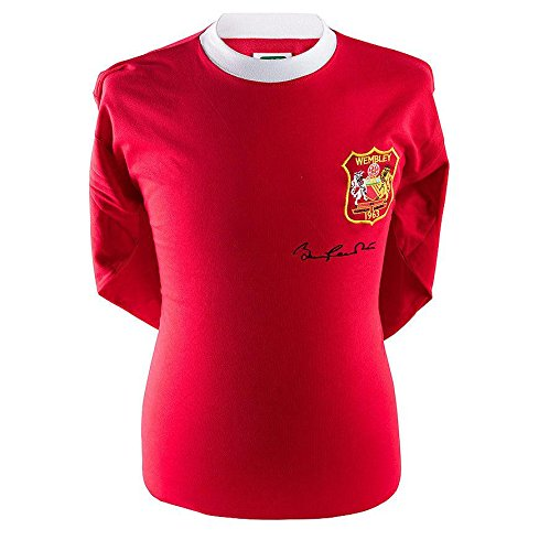Sir Bobby Charlton Signed Manchester United Shirt - 1963 FA Cup Autograph - Autographed Soccer Jerseys